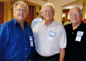 Carroll, Willie and Farroll Campbell were among the former students of the Gowensville School who attended the first Alumni Day in November 2013.